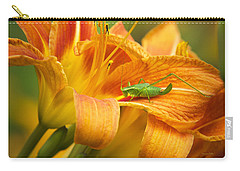 Flower With Company Carry-all Pouch by Christina Rollo