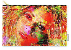Flowery Shakira Carry-all Pouch by Navo Art