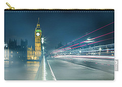 Foggy Mist Covered Westminster Bridge Carry-all Pouch by Martin Newman