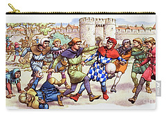 Football In The Middle Ages Carry-all Pouch by Pat Nicolle