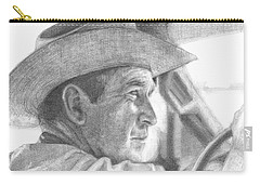 Former Pres. George W. Bush Wearing A Cowboy Hat Carry-all Pouch by Michelle Flanagan