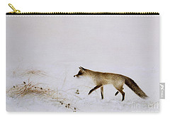 Fox In Snow Carry-all Pouch by Jane Neville