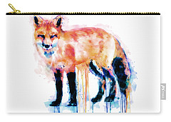Fox  Carry-all Pouch by Marian Voicu