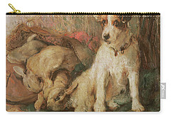 Fox Terrier With The Day's Bag Carry-all Pouch by English School