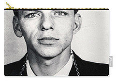Frank Sinatra Mug Shot Vertical Carry-all Pouch by Tony Rubino
