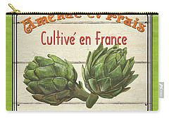 French Vegetable Sign 2 Carry-all Pouch by Debbie DeWitt