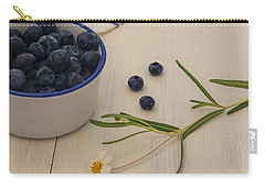 Fresh Blueberries Carry-all Pouch by Kim Hojnacki