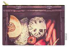 Fresh Vegetables In Wooden Box Carry-all Pouch by Jorgo Photography - Wall Art Gallery