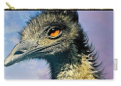 Friend Emu Carry-all Pouch by Diana Angstadt