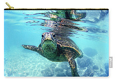 friendly Hawaiian sea turtle  Carry-all Pouch by Sean Davey
