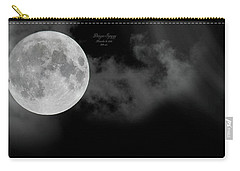 Frosty Moon November 14 2016 Carry-all Pouch by Betsy Knapp