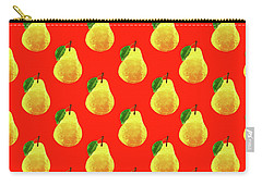 Fruit 03_pear_pattern Carry-all Pouch by Bobbi Freelance