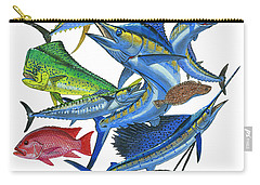 Gamefish Collage Carry-all Pouch by Carey Chen