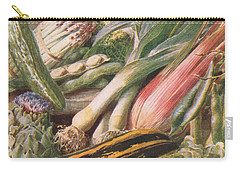 Garden Vegetables Carry-all Pouch by Louis Fairfax Muckley