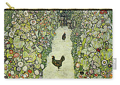 Garden With Chickens Carry-all Pouch by Gustav Klimt