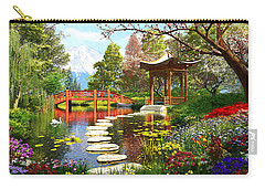 Gardens Of Fuji Carry-all Pouch by Dominic Davison