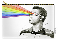 Geordi Sees The Rainbow Carry-all Pouch by Olga Shvartsur
