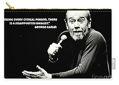 George Carlin Art  Carry-all Pouch by Pd