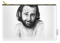 George Carlin Portrait Carry-all Pouch by Olga Shvartsur