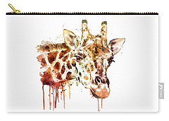 Giraffe Head Carry-all Pouch by Marian Voicu
