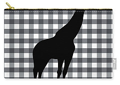 Giraffe Silhouette Carry-all Pouch by Linda Woods
