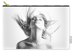 Girl With Flying Blond Hair Carry-all Pouch by Olena Zaskochenko