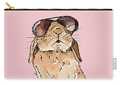 Glamorous Rabbit Carry-all Pouch by Katrina Davis