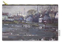 Gloomy And Rainy Day By Hyde Park Carry-all Pouch by Ylli Haruni