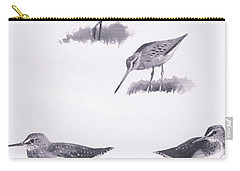 Godwits And Green Sandpipers Carry-all Pouch by Archibald Thorburn