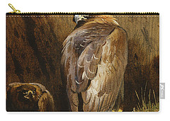 Golden Eagles At Their Eyrie Carry-all Pouch by Archibald Thorburn