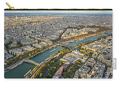 Golden Light Along The Seine Carry-all Pouch by Mike Reid