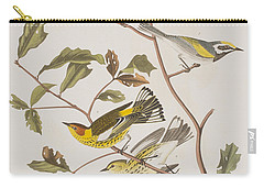 Golden Winged Warbler Or Cape May Warbler Carry-all Pouch by John James Audubon