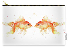 Goldfish Love Watercolor Carry-all Pouch by Olga Shvartsur