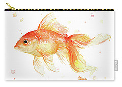 Goldfish Painting Watercolor Carry-all Pouch by Olga Shvartsur