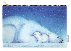 Arctic Bears, Goodnight Nanook Carry-all Pouch by Tracy Herrmann