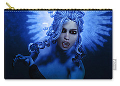 Gorgon Blue Carry-all Pouch by Joaquin Abella