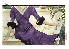 Grace Kelly Draw Carry-all Pouch by Quim Abella