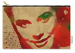 Grace Kelly Watercolor Portrait Carry-all Pouch by Design Turnpike