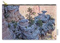 Carry-all Pouch featuring the photograph Grand Canyon Cliff Wall, Arizona by A Gurmankin