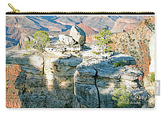 Carry-all Pouch featuring the photograph Grand Canyon Rock Formations, Arizona by A Gurmankin