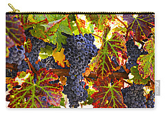 Grapes On Vine In Vineyards Carry-all Pouch by Garry Gay