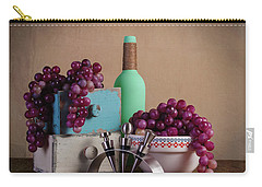 Grapes With Wine Stoppers Carry-all Pouch by Tom Mc Nemar