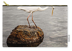 Great White Heron Carry-all Pouch by Elena Elisseeva