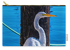 Great White Heron Carry-all Pouch by Garry Gay