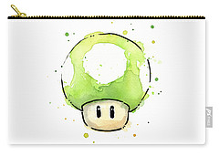 Green 1up Mushroom Carry-all Pouch by Olga Shvartsur
