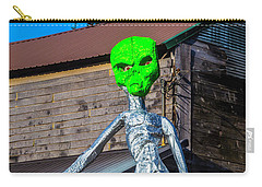 Green Alien Space Creature Carry-all Pouch by Garry Gay