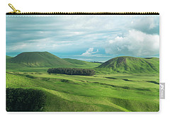 Green Hills On The Big Island Of Hawaii Carry-all Pouch by Larry Marshall