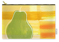 Green Pear- Art By Linda Woods Carry-all Pouch by Linda Woods