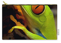 Green Tree Frog Carry-all Pouch by Sharon Foster