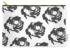 Grey Roses Carry-all Pouch by Cortney Herron